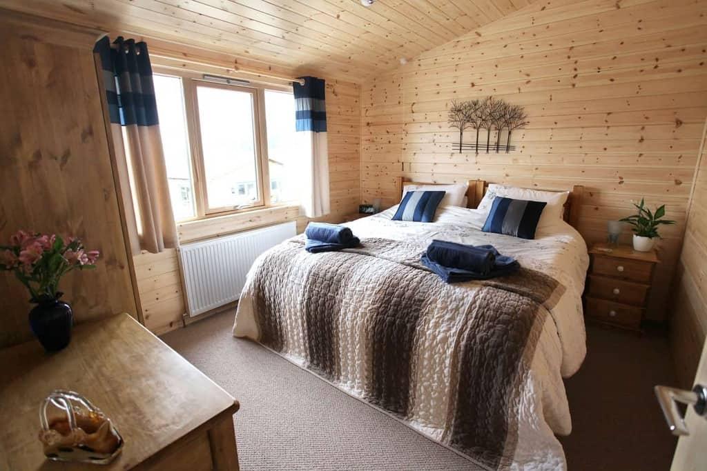 Bedroom at Hoe Grange Log Cabins