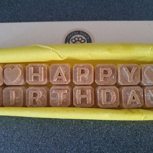 Harley Bear Happy Birthday Dog Treats