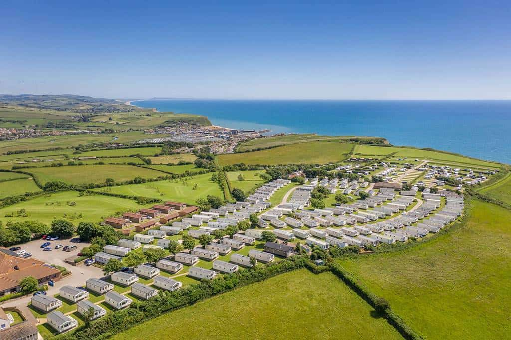 Aerial View of West Dorset Leisure Holidays