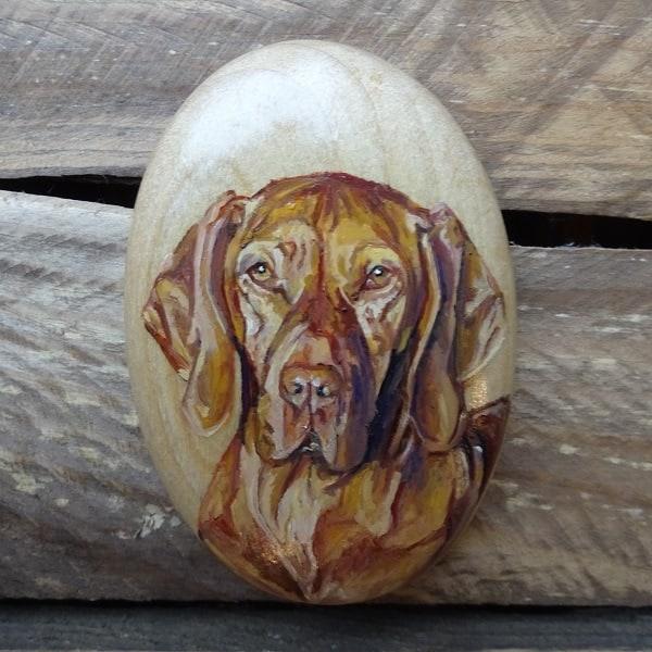 Dog Portrait Pebble Wirelife Art