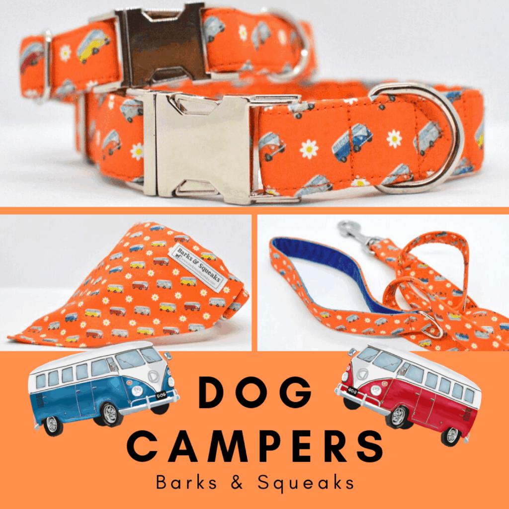 Barks and Squeaks Camper Van Dog Bandana