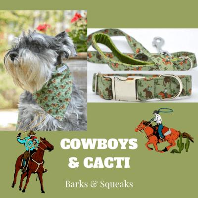 Barks and Squeaks Cowboy and Cacti Dog Bandana