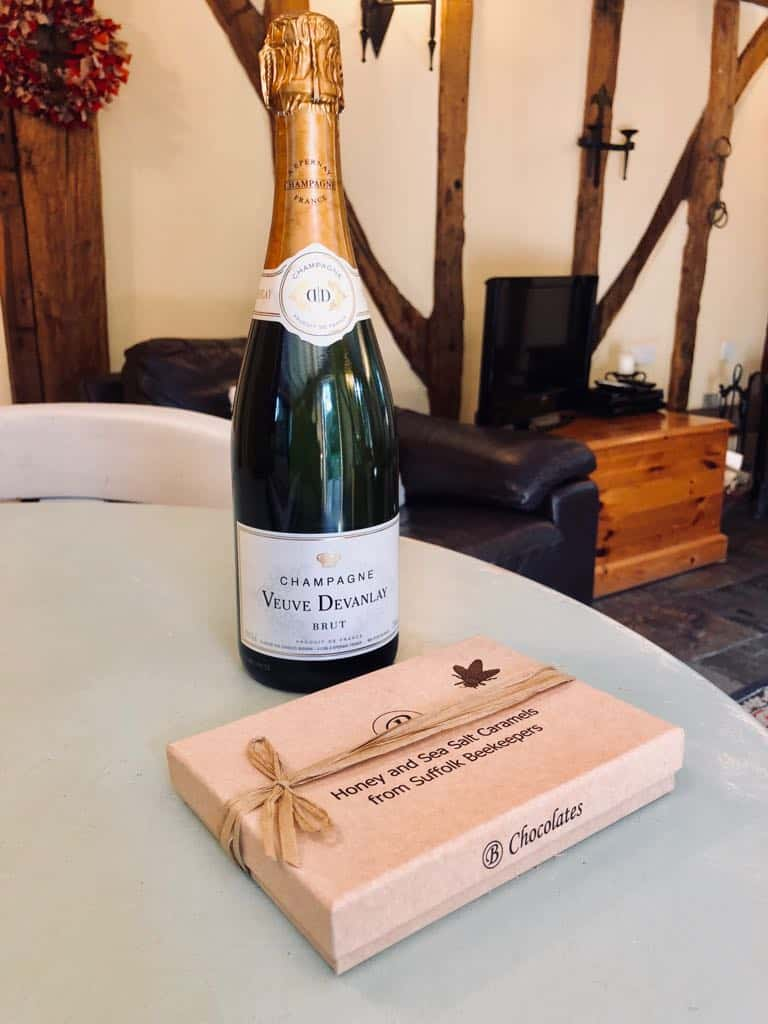 Woodfarm Champagne and Chocolates
