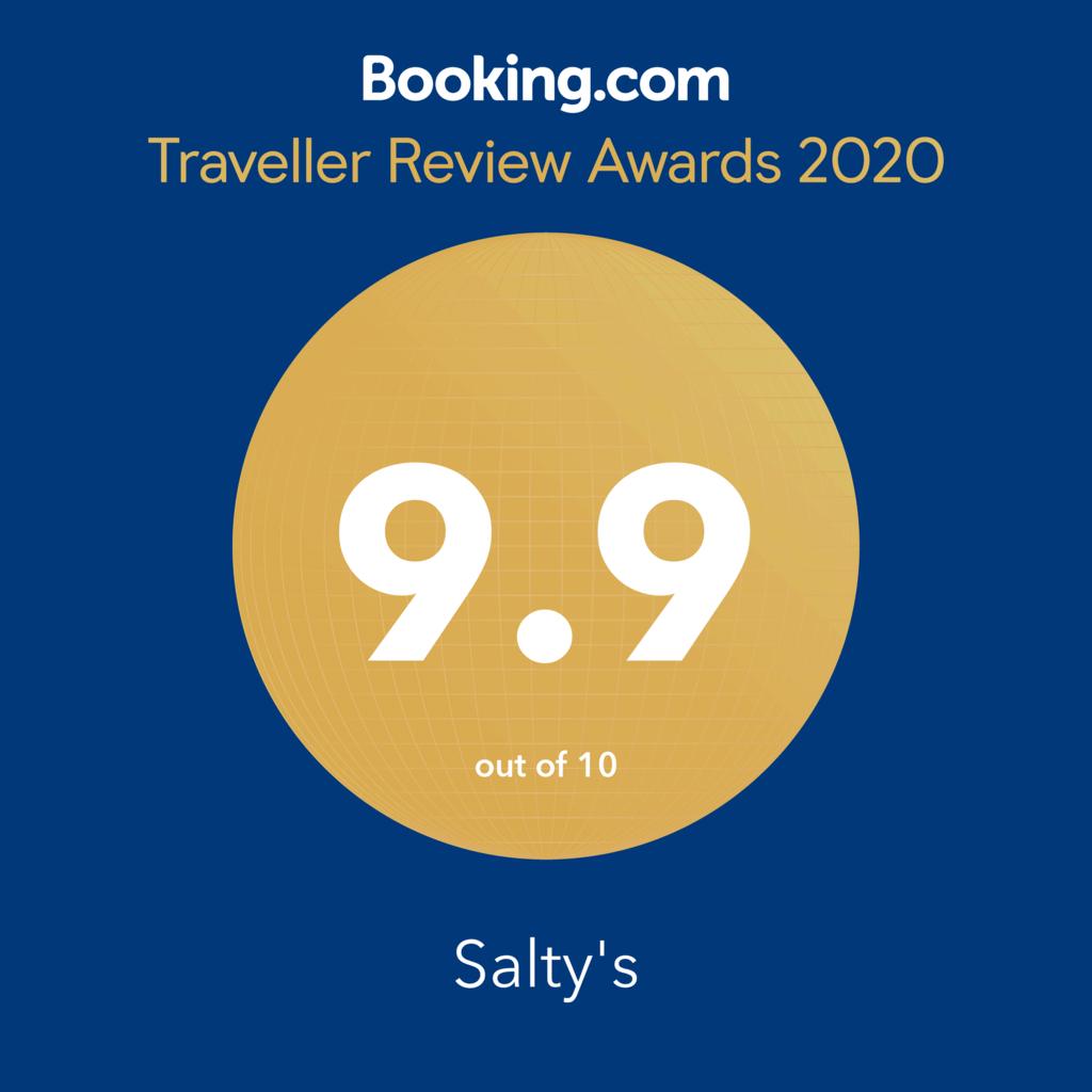 Saltys Cottage Booking.com Award