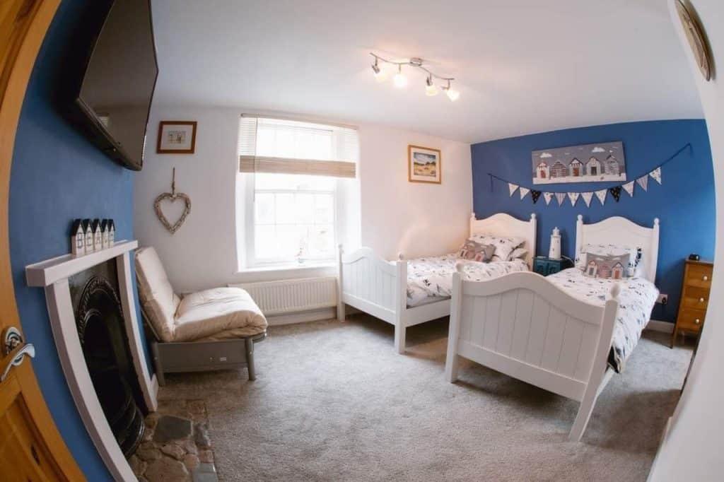 Bedroom at Saltys Dog Friendly Holiday Cottage Devon