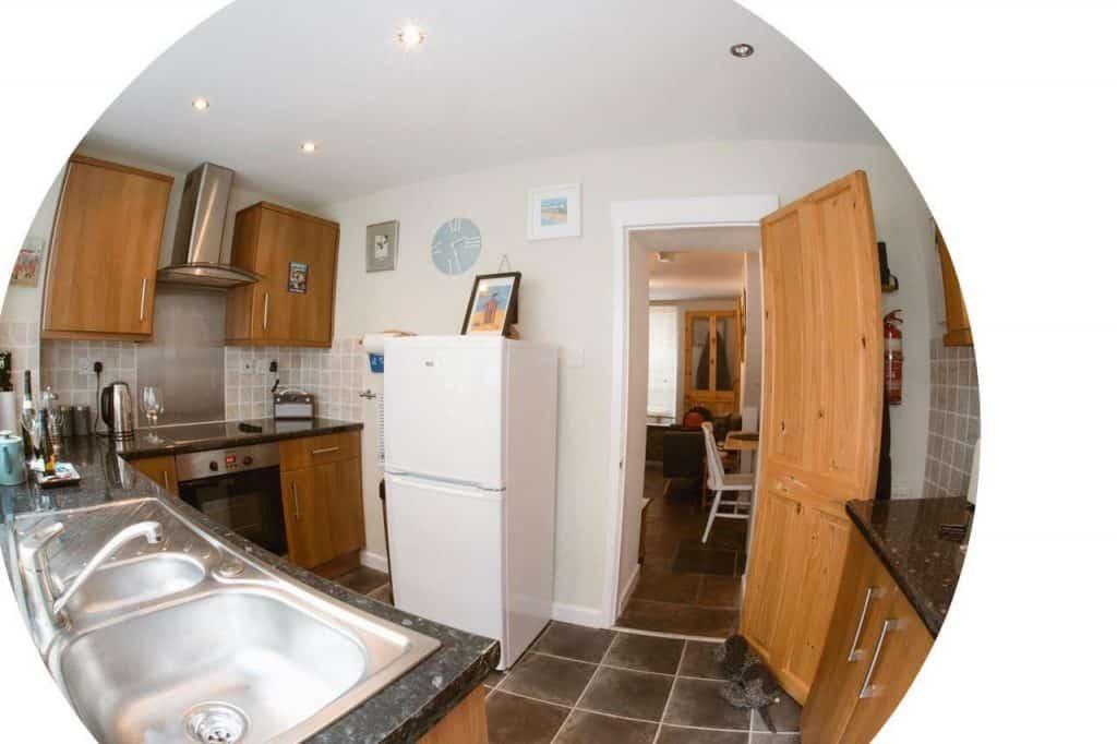 Kitchen at Saltys Dog Friendly Holiday Cottage Devon