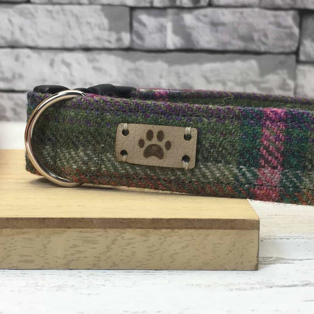 Jos Dog Boutique Tweed Dog Collar