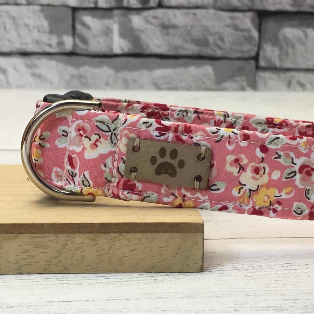 Jos Dog Boutique Floral Dog Collar