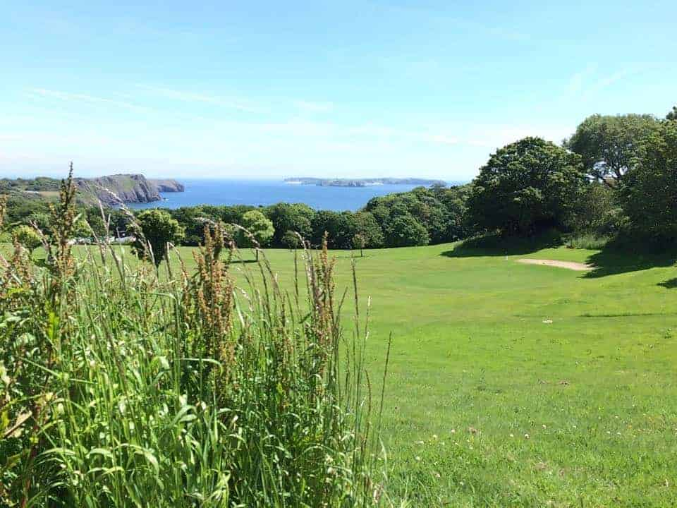 Wander the grounds with your four-legged friend and admire the beautiful views across to Caldey Island...