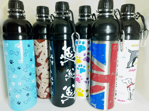 Bigpaws range of Dog Water Bottle Designs