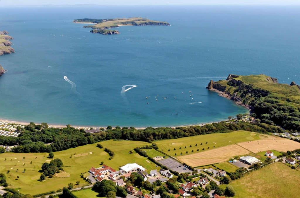 Celtic Haven's picturesque setting on the Pembrokeshire cliff-tops...