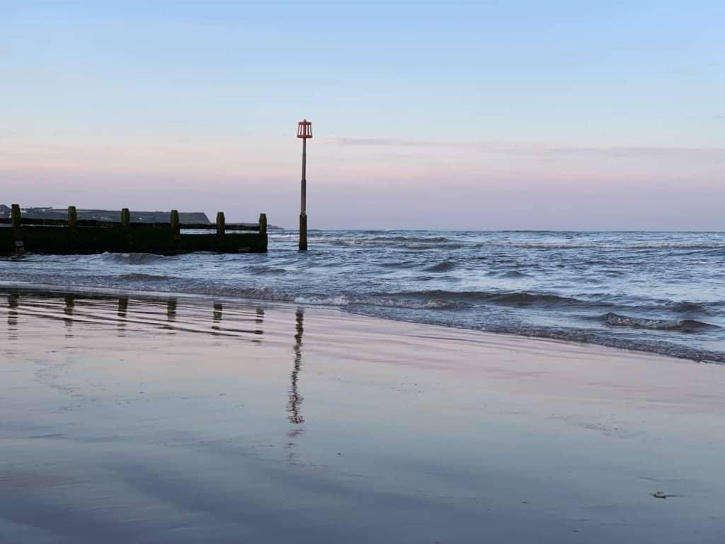 Sunset on Dawlish Warren Beach