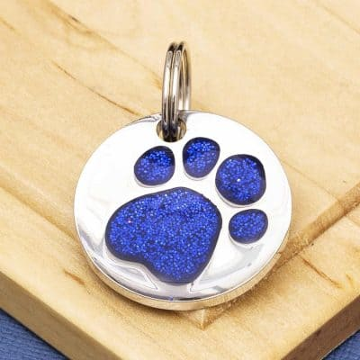 Pet Id Tags Express Paw Print Design