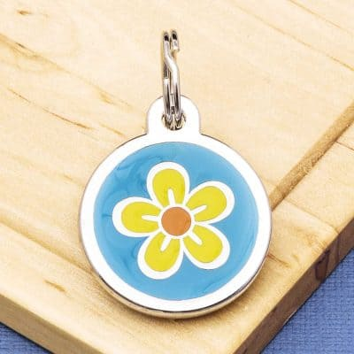 Pet Id Tags Express Flower Design