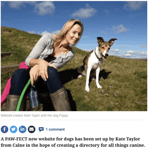 Kate Taylor and her dog Poppy