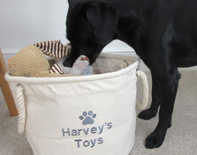 Personalised Dog Toy Storage My Posh Paws