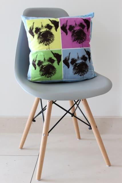 Terrier Design Chair Cushion