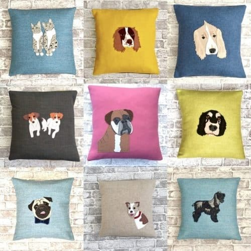 Dune Chick Pet Portrait Cushions