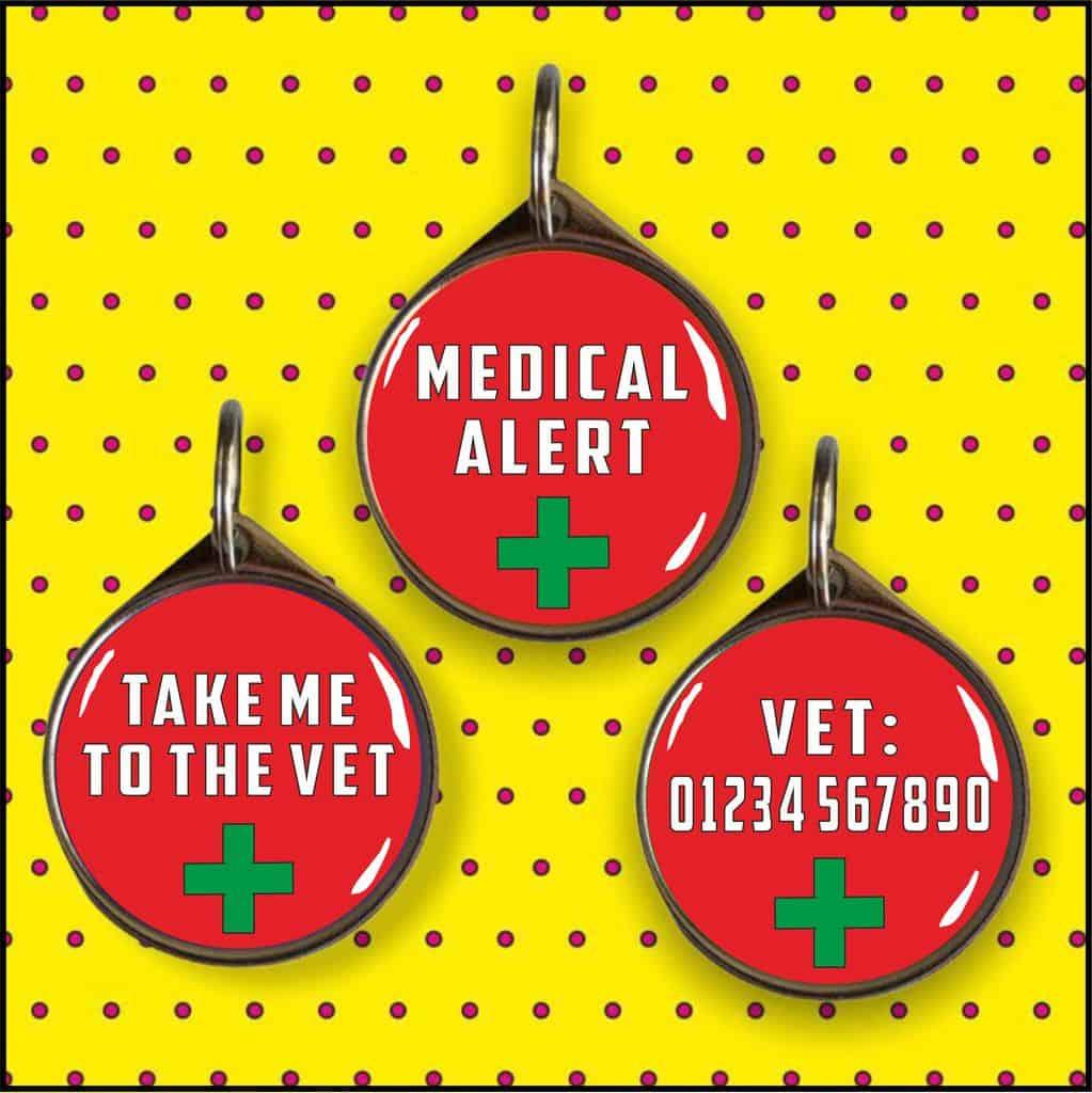 Medical Alert Pet ID Tag