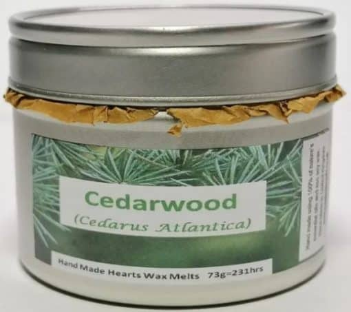 Silver Tin with cedarwood label