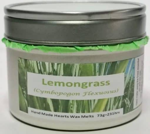 Silver tin with Lemongrass label