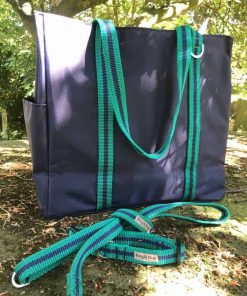Blue Tote bag with straps
