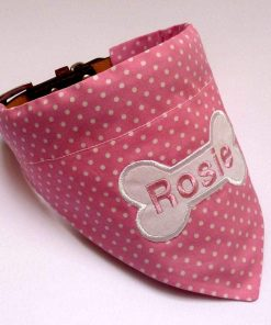 Pink and White polka dot bandana