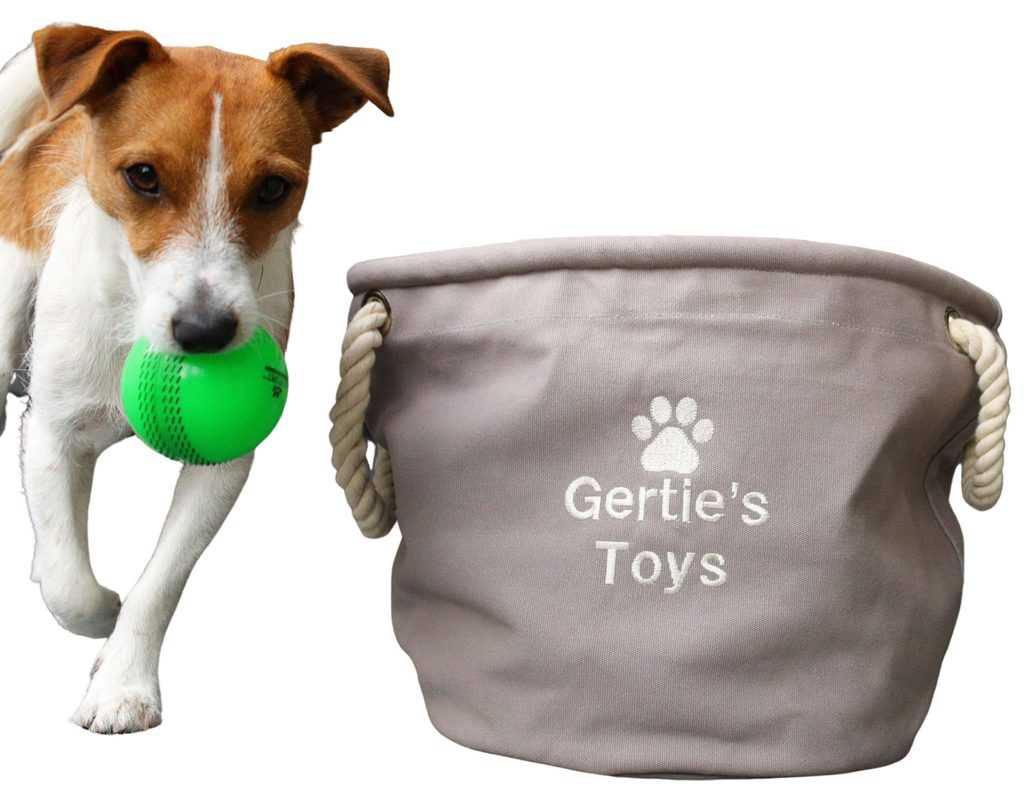 Personalised Dog Toy Storage