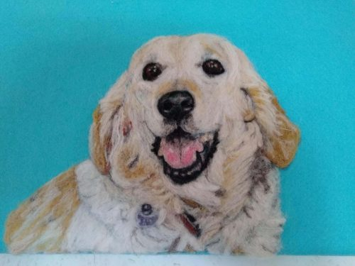 Labrador Retriever Felt Portrait